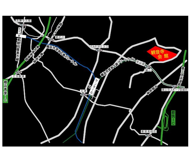観音寺会館アクセス地図